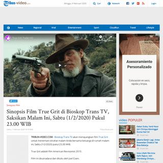 Sinopsis Film True Grit di Bioskop Trans TV, Saksikan Malam Ini, Sabtu (1-2-2020) Pukul 23.00 WIB - Tribun Video