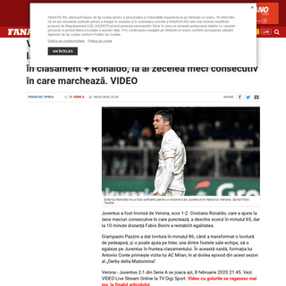Verona - Juventus LIVE STREAM Serie A. VIDEO Online TV pe Digisport si FANATIK.RO