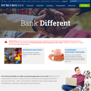 Homepage - 1st Security Bank