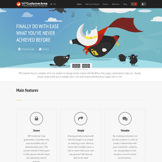 WP Customer Area - Publish protected content in WordPress
