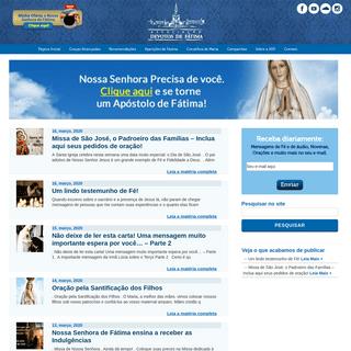 Associação Devotos de Fátima 2019Associação Devotos de Fátima 2019 - Notícias, mensagens, orações, novenas, campanhas d