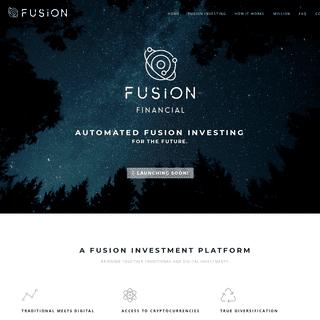 Fusion Financial – Hybrid Investment Advisor