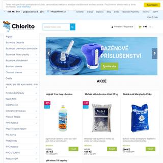 Bazénová chemie a příslušenství -Chlorito.cz