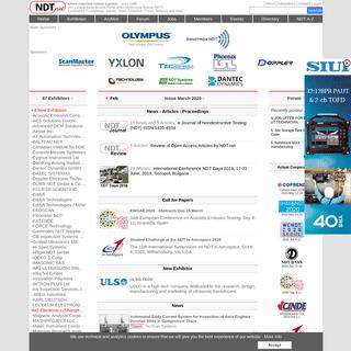 NDT.net - Nondestructive Testing (NDT) Portal & Open Access Archive