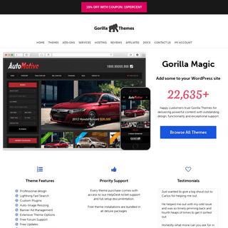 WordPress Themes & Website Templates by Gorilla Themes