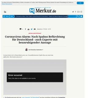 Coronavirus-Alarm- Nach Spahns Befürchtung für Deutschland - Experte mit beunruhigender Aussage - Welt
