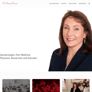 Dr Susan Evans – Gynaecologist, Pain Medicine Physician, and Educator