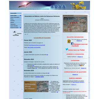 ADNA06 - Association de défense contre les nuisances aériennes