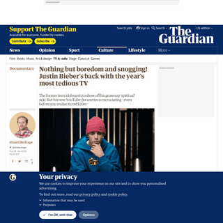 Nothing but boredom and snogging! Justin Bieber's back with the year's most tedious TV - Television & radio - The Guardian