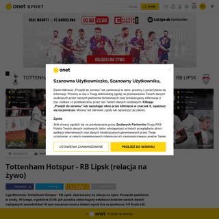 Liga Mistrzów na żywo- Tottenham - RB Lipsk. Relacja i wynik live online - Piłka nożna