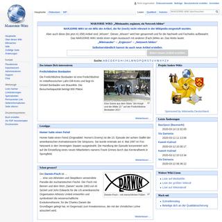 Gelöschte Wikipedia Artikel im MARJORIE WIKI