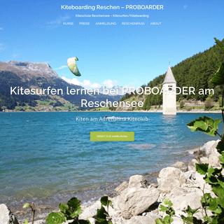 Kiteboarding Reschen – PROBOARDER – Kiteschule Reschensee – Kitesurfen-Kiteboarding