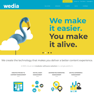 Wedia - Saas Solution for Marketing Resource Management