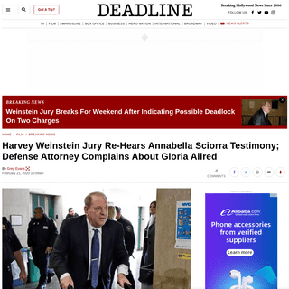 ArchiveBay.com - deadline.com/2020/02/harvey-weinstein-rape-trial-friday-jury-deliberations-gloria-allred-1202865314/ - Harvey Weinstein Jury Re-Hears Annabella Sciorra Testimony – Deadline