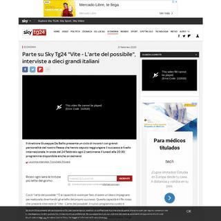 ArchiveBay.com - tg24.sky.it/economia/2020/02/21/vite-interviste-italiani-successo.html - Vite – L'arte del possibile, le interviste di Giuseppe de Bellis a 10 grandi italiani di successo