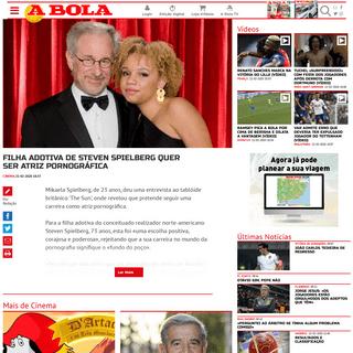 ArchiveBay.com - www.abola.pt/nnh/2020-02-21/cinema-filha-adotiva-de-steven-spielberg-quer-ser-atriz-pornografica/830419 - A BOLA - Filha adotiva de Steven Spielberg quer ser atriz pornográfica (Cinema)