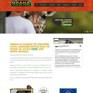 Open Range Zoo, Christchurch NZ - Orana Wildlife Park