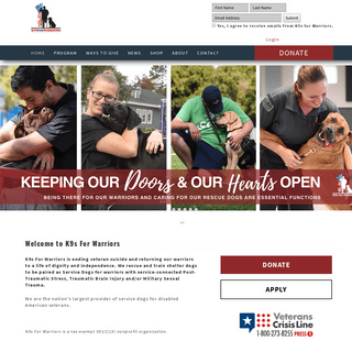 Providing Service Canines For Warriors