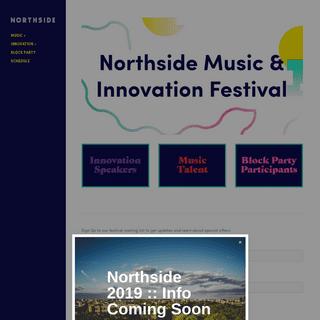 Northside Festival 2018 -- Brooklyn, June 6-10