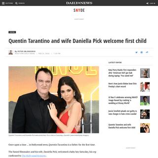 ArchiveBay.com - www.nydailynews.com/snyde/ny-quentin-tarantino-daniella-pick-first-child-20200223-ppljocjomvao3bt5ckz2kv7e2a-story.html - Quentin Tarantino and wife welcome first child - New York Daily News