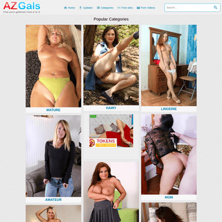 AZ Gals. Free Erotic And Porn Galleries from A to Z