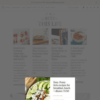 The Best of this Life - Canadian Lifestyle Blog Celebrating Everyday Living