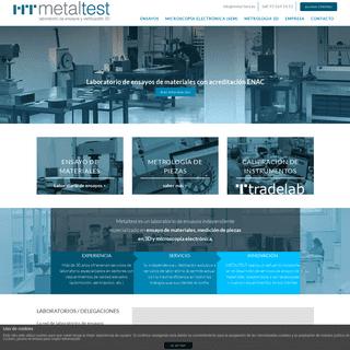 Laboratorio de ensayos y verificación 3D - Metaltest
