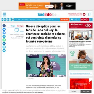 Grosse déception pour les fans de Lana del Rey- la chanteuse, malade et aphone, est contrainte d'annuler sa tournée europée