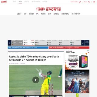 Australia vs South Africa T20 series - Smith, Warner star in win, 2-1 result