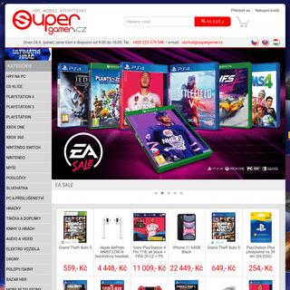 SuperGAMER.cz - prodej her a profi příslušenství. Hry na PC, PS2, PS3, PSP, XBOX 360, Wii, sluchátka