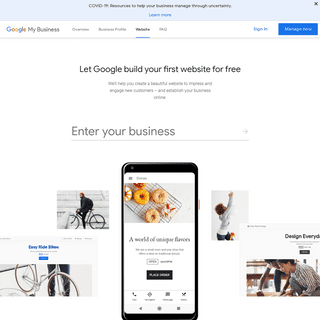 Free Website Builder For Your Business - Google My Business