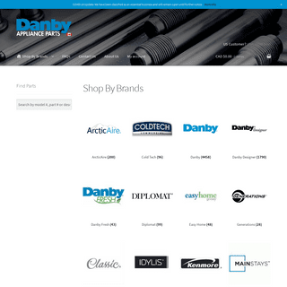 Products Archive - Danby Parts Canada