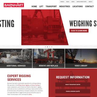 Crane Service and Heavy Hauling - Barnhart Crane & Rigging
