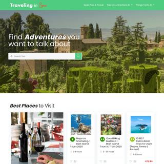 Homepage Booking - Traveling in Spain