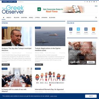 Homepage - The Greek Observer