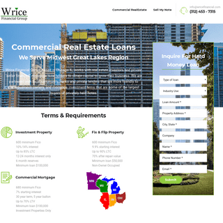 Wrice Financial Group – Commercial Loan Brokerage