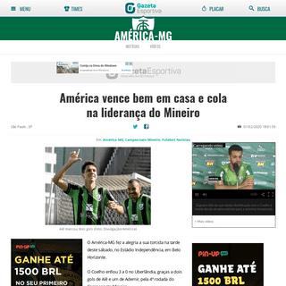 América vence bem em casa e cola na liderança do Mineiro - Gazeta Esportiva