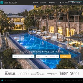 ArchiveBay.com - edgeretreats.com - Luxury Villa Rentals & Holiday Experiences - Edge Retreats