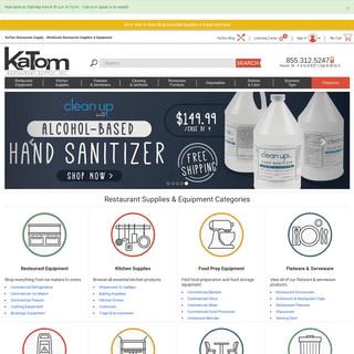 Wholesale Restaurant Supplies & Equipment - KaTom Restaurant Supply