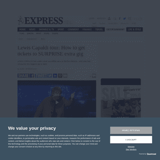ArchiveBay.com - www.express.co.uk/entertainment/music/1244912/Lewis-Capaldi-tour-how-to-get-tickets-surprise-gig-london-o2 - Lewis Capaldi tour- How to get tickets to SURPRISE extra gig - Music - Entertainment - Express.co.uk