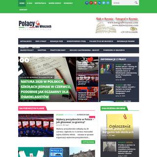 ArchiveBay.com - polacywewloszech.com - Strona stratowa - Polacy we Włoszech - wiadomości online