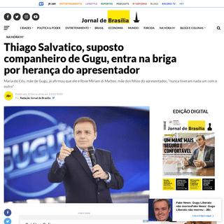 Thiago Salvatico, suposto companheiro de Gugu, entra na briga por herança do apresentador - JBr.