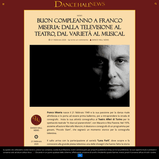 Buon compleanno a Franco Miseria- dalla televisione al Teatro, dal varietà al musical - - DHN - Rivista di danza online