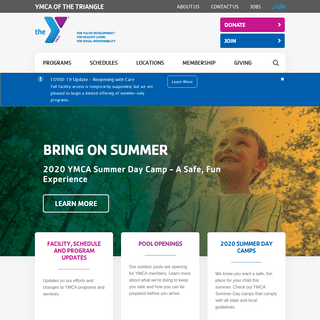 Home - YMCA of the Triangle