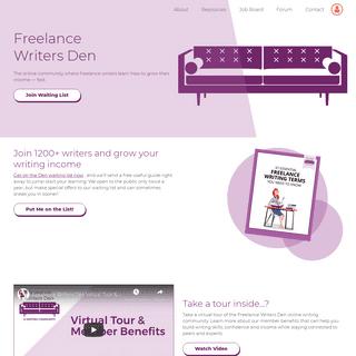Freelance Writers Den- Online Writing Community