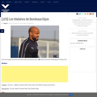 [J25] Les titulaires de Bordeaux-Dijon - Girondins4Ever
