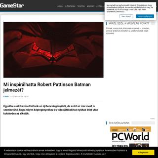 Mi inspirálhatta Robert Pattinson Batman jelmezét- - Hír - GameStar