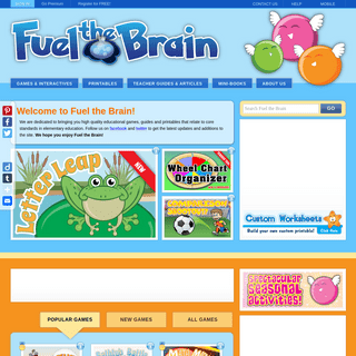 Fuel the Brain - Educational Games & Resources