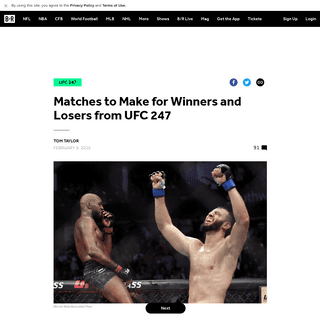 ArchiveBay.com - bleacherreport.com/articles/2875483-matches-to-make-for-winners-and-losers-from-ufc-247 - Matches to Make for Winners and Losers from UFC 247 - Bleacher Report - Latest News, Videos and Highlights