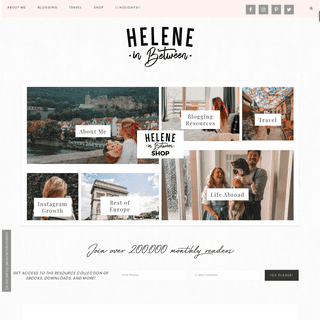 Helene in Between - Lifestyle and Travel blog helping Bloggers Succeed Online.